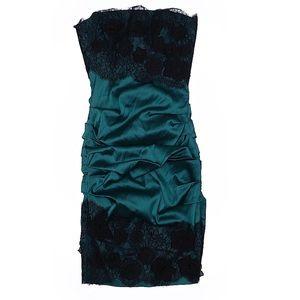 NWOT, BCBG Maxazria Cocktail Sateen & Lace dress